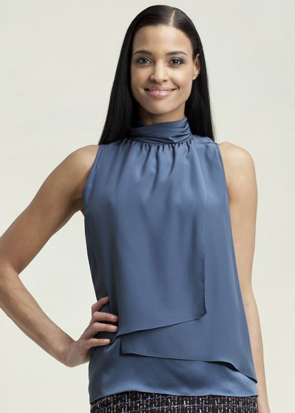 silk tops women sale   Matte Silk Leena Top : Womens Designer Tops & Blouses   Lafayette148ny ... Wear with suit or skirt and cardigan. Would like to try yellow cardigan and white or light yellow skinny jeans and sandals with it.