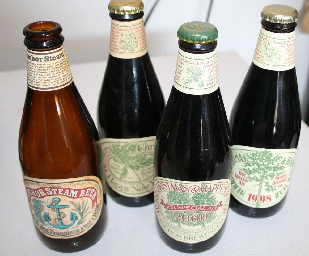 Anchor Brewing Company Merry Christmas Happy New Year Beer Bottles Ebay Link