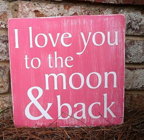 I Love You To The Moon Back My Love Love You Subway Sign