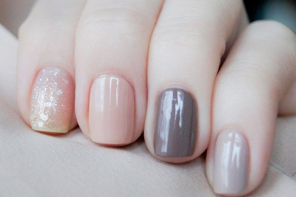 OPI pirouette my whistle + OPI samoan sand + Mavala marron glace + Chanel frenzy