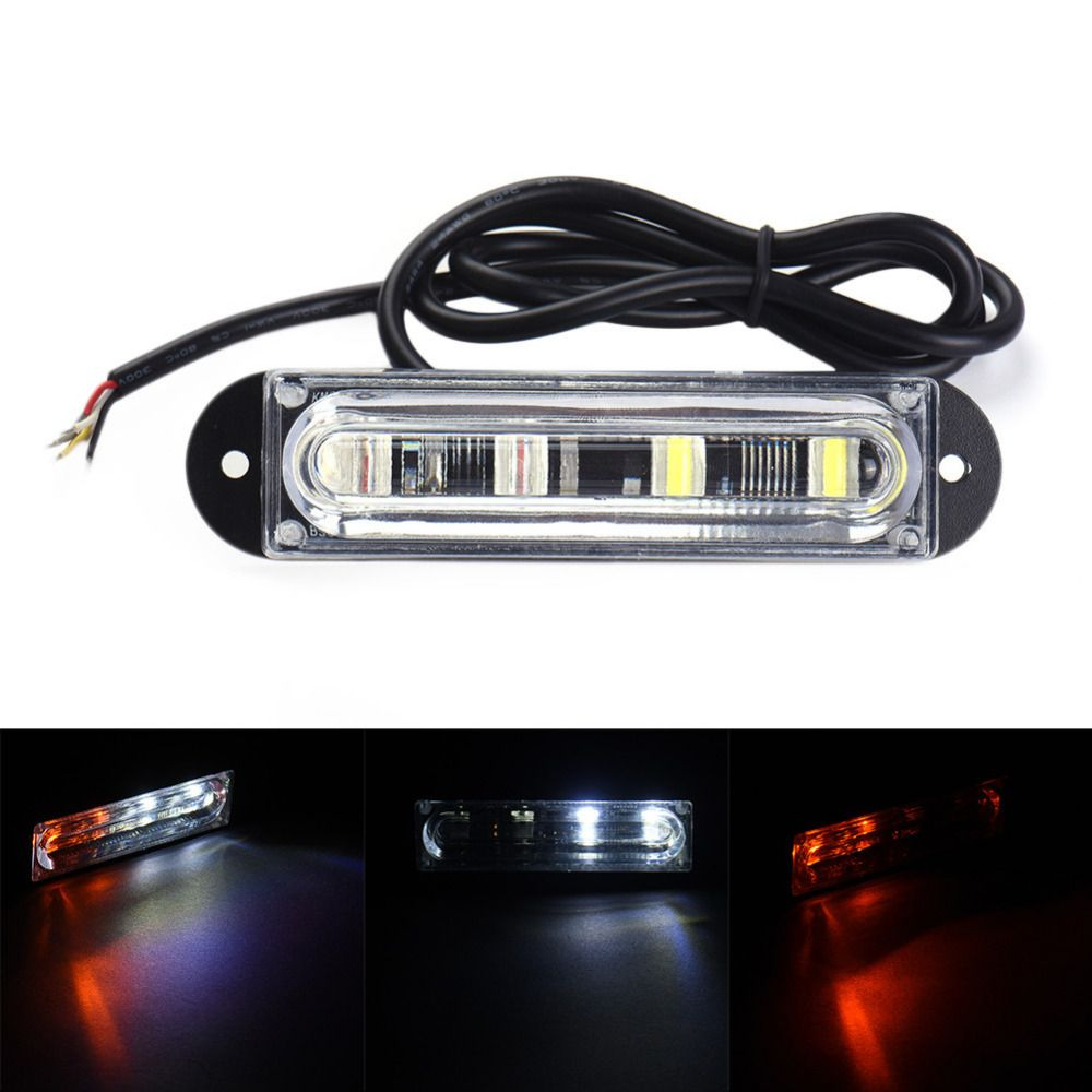 Compare Prices 4 Led White Yellow Car Police Strobe Flash Light Bar Lamp Dash Emergency Warning Emergency Light Bar Lovejewelry Bar Lighting Car Lights