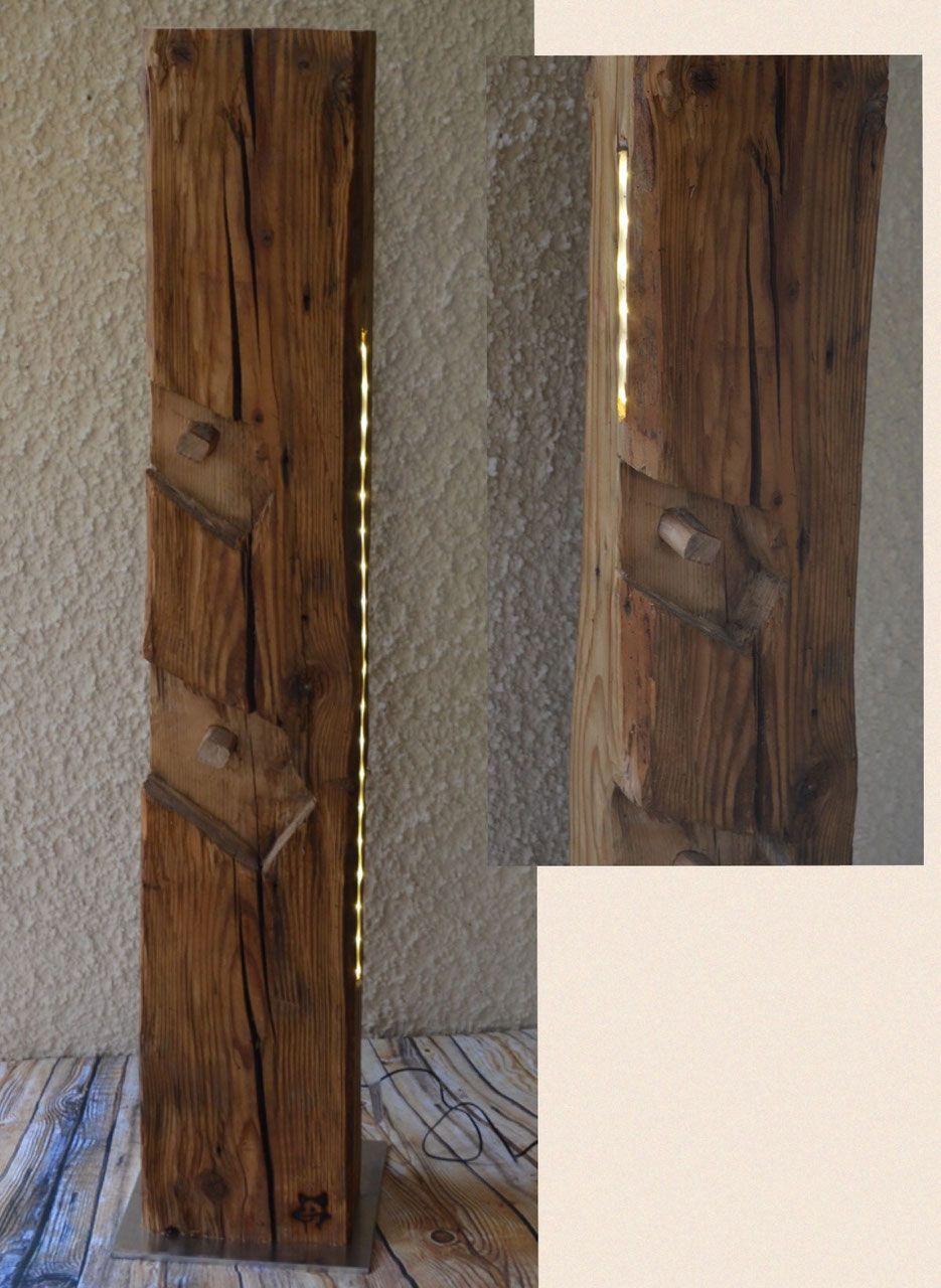 Holzbalken mit LED III | Holz | Pinterest | Holzbalken, LED und ...