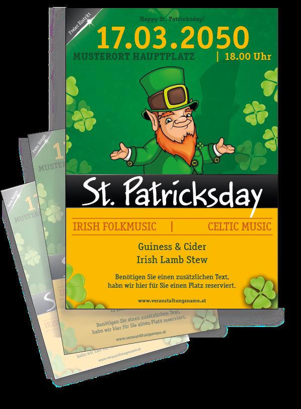 Drucken Sie hochwertige Flyer passend für St. Patricks Day