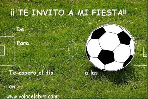 Invitaciones Cumpleaños Futbol Tarjetas De Cumpleaños Futbol Invitaciones De Cumpleaños Gratis Invitaciones De Cumpleaños Futbol