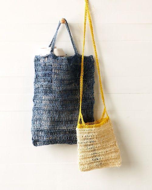Crocheted Blue Summer Bag Crochet Beach Bags Crochet