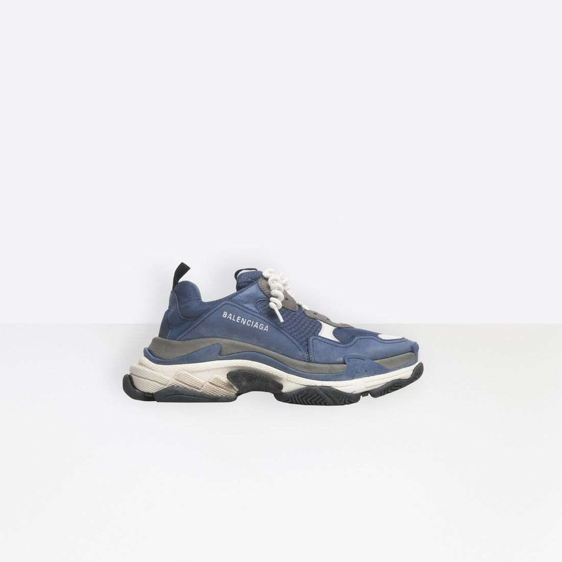 66d66f64b Balenciaga Oversized multimaterial sneakers with quilted effect