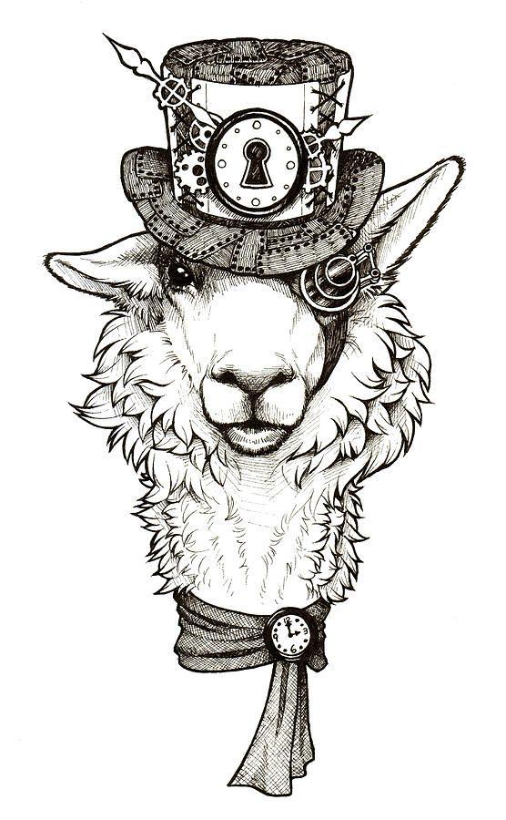 Llama drawing llama of time by jessica pryor dessin en 2019 llama drawing llama arts et - Petit quick coloriage ...