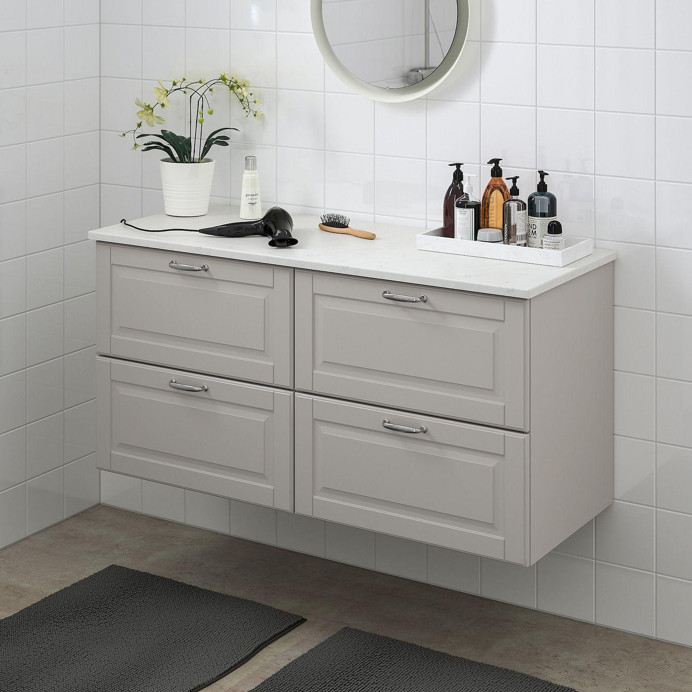 Ikea Godmorgon Tolken Bathroom Vanity Kasjon Light Gray