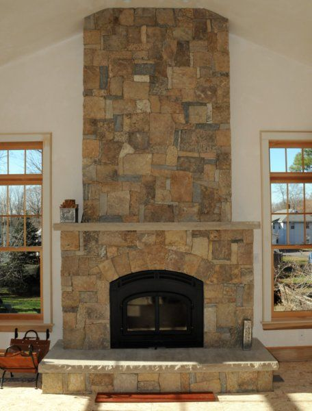 new england fieldstone boston blend square rectangular veneer sold at ondrick natural earth chicopee stone veneer fireplacestove fireplacecorner - Fireplace With Stone Veneer