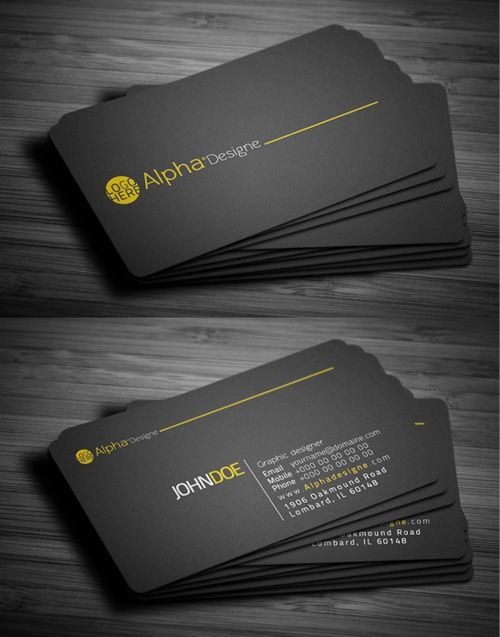modern simple business cards