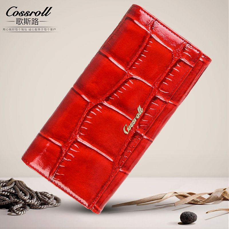 Luxury brand genuine leather wallet women wallets and