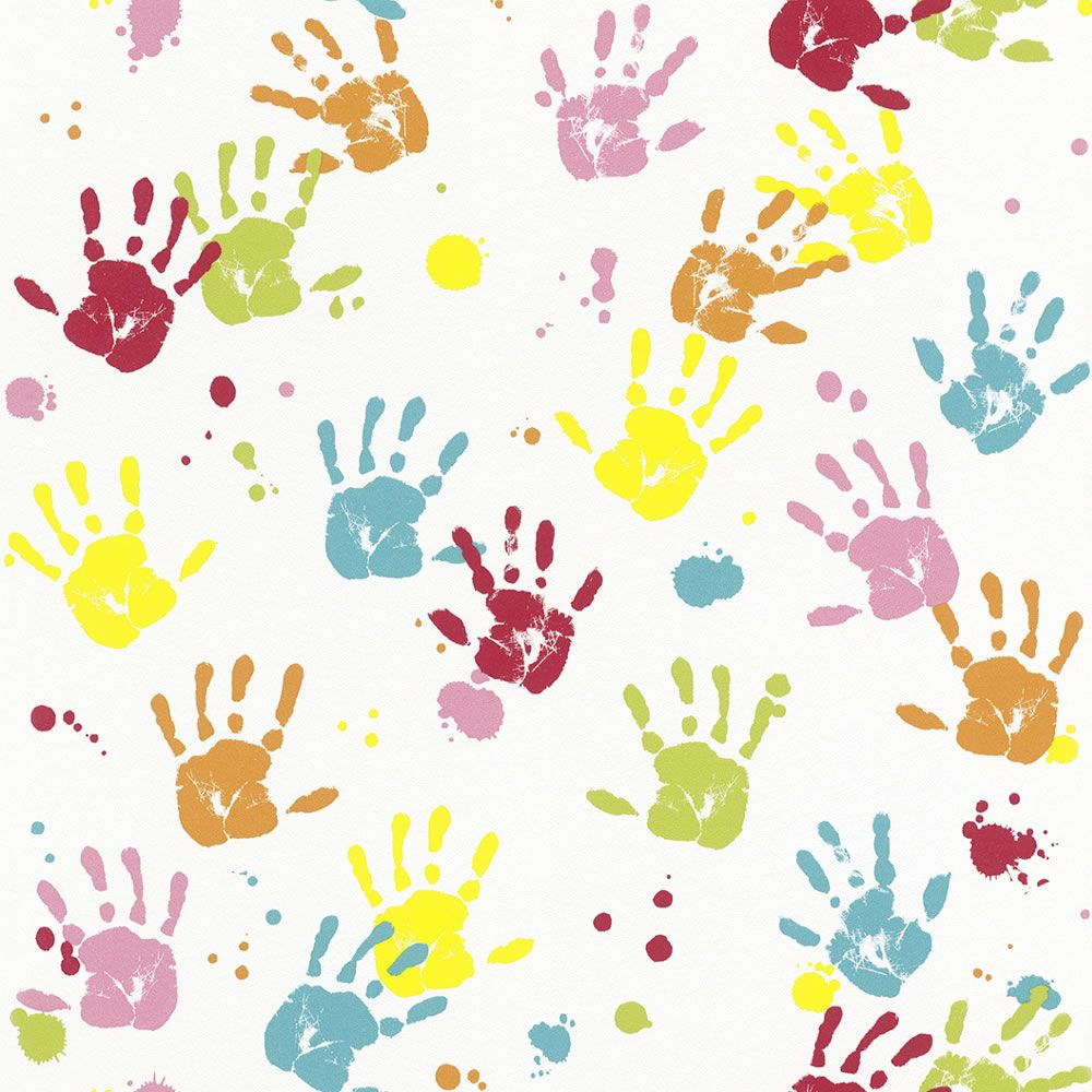 Kids hands texturas pinterest wallpaper kids Wallpaper for childrens room