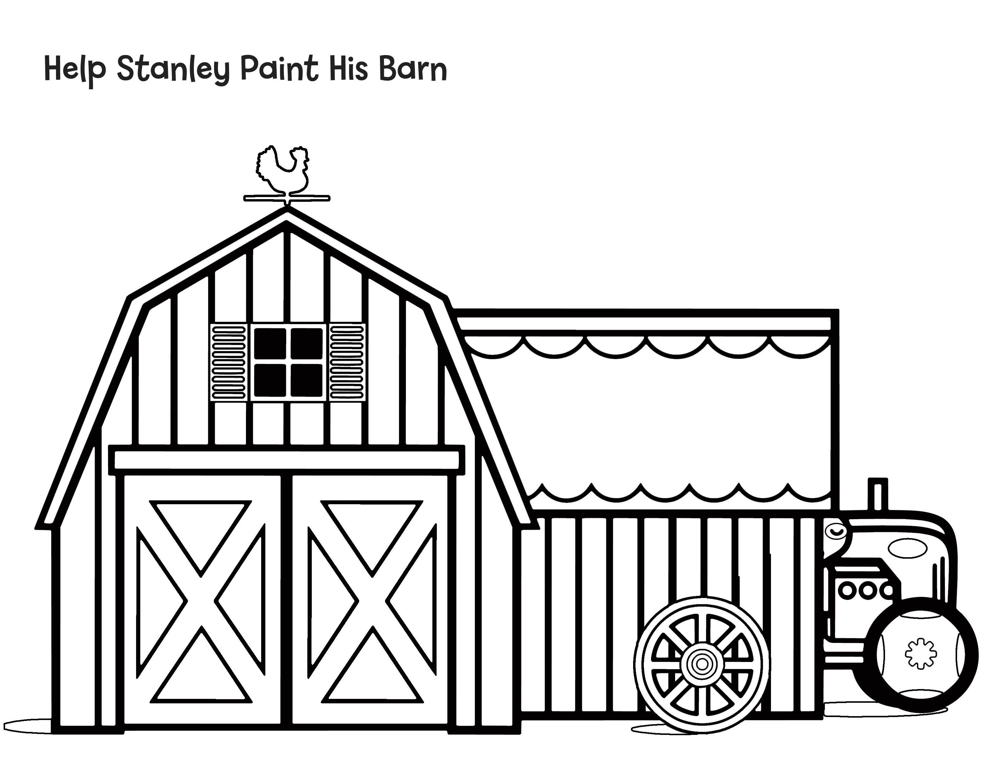 Help Stanley Paint His Barn A Coloring Sheet To Go With Stanley The Farmer Download The Free Activity Kit Here Http Coloring Sheets Painting Activity Kits