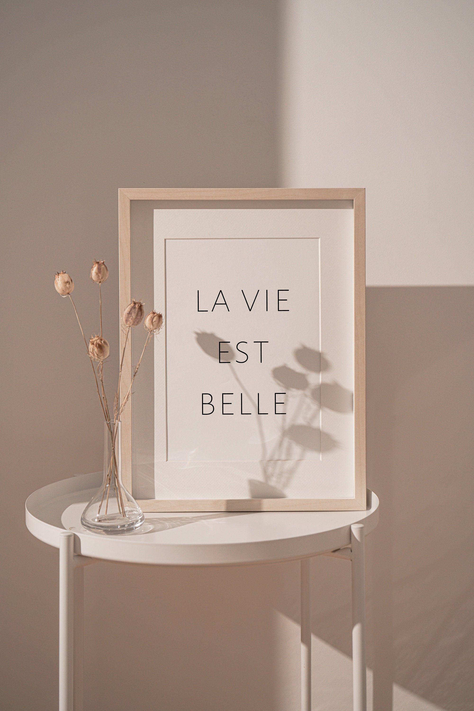 Digital Download La Vie Est Belle Life Is Beautiful Etsy Wall Decor Printables Wall Decor Bedroom Aesthetic Room Decor