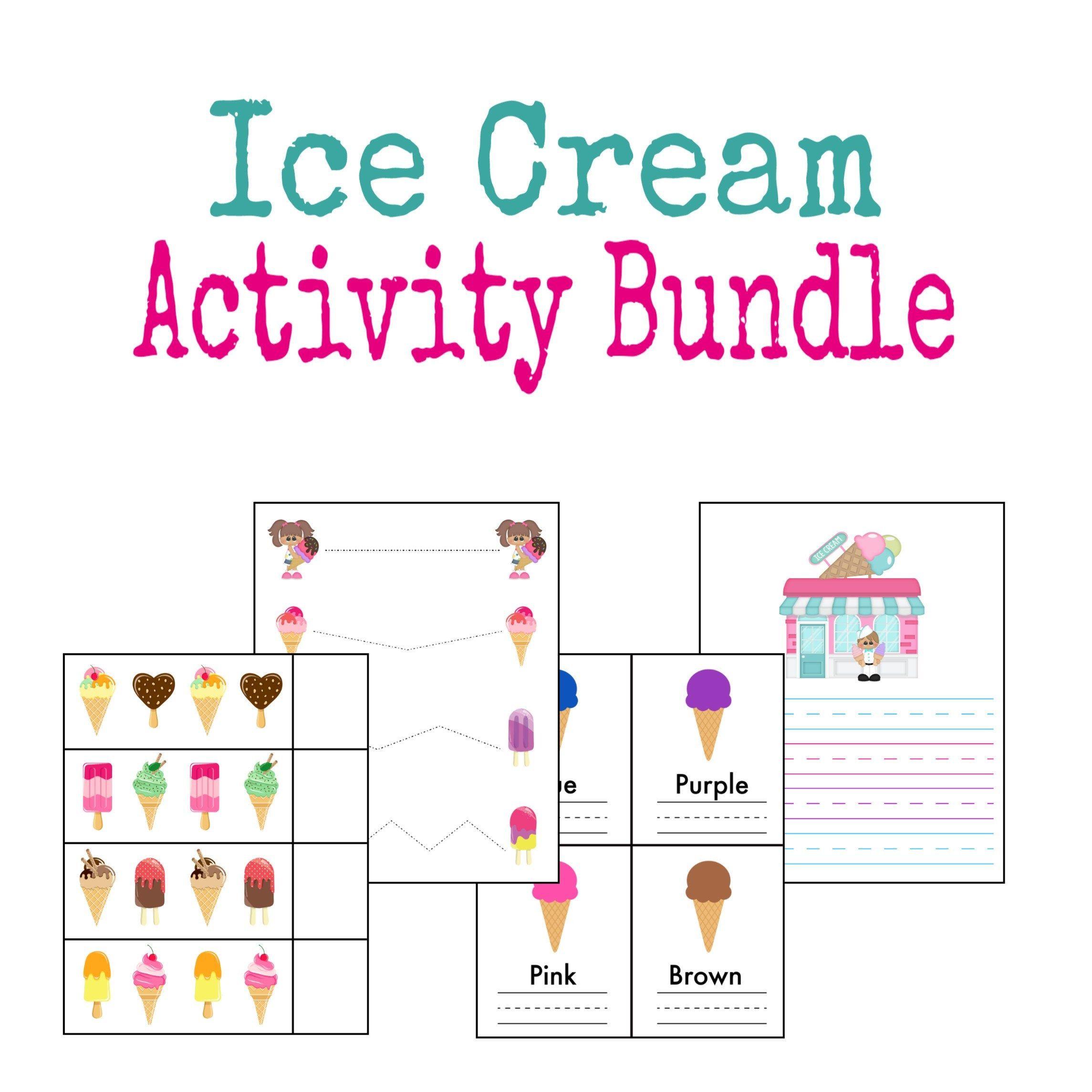 Ice Cream Patterns Activity File Folder Game Busy Binder