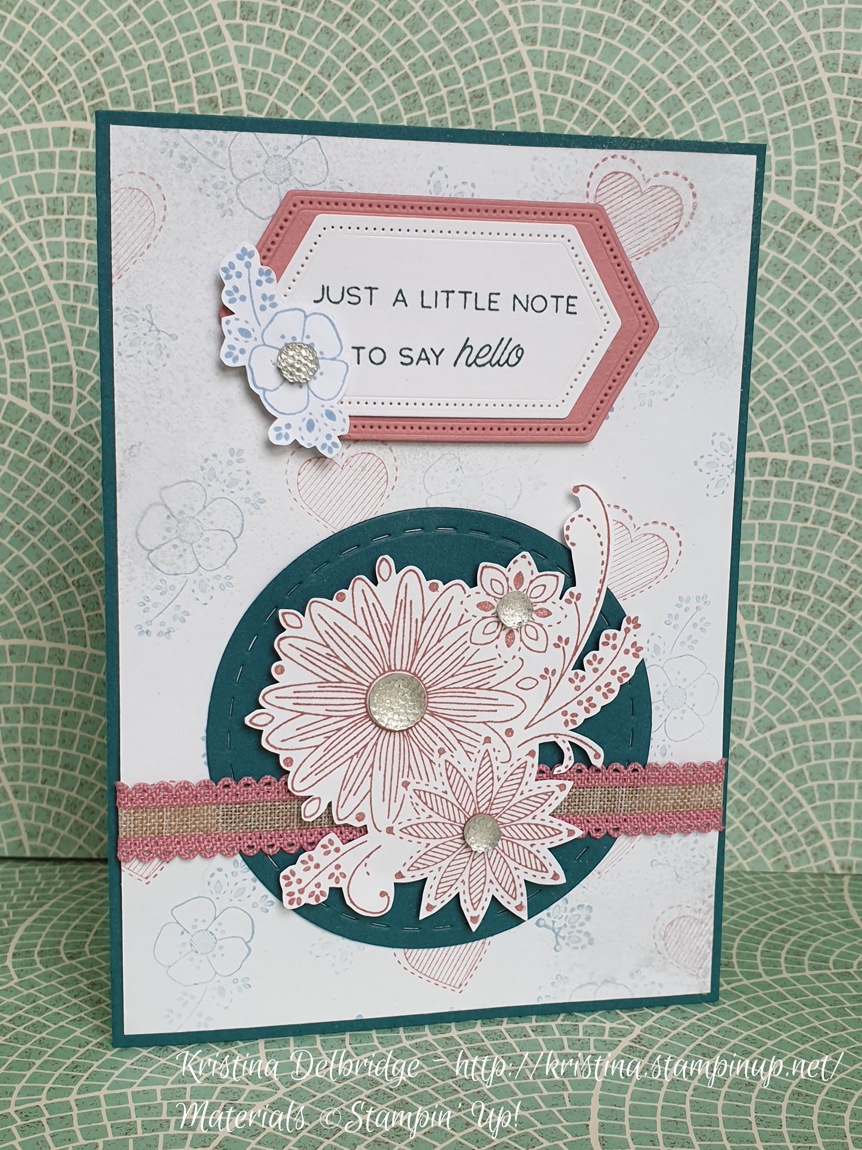 Another New Stamp Set By Stampin Up A Little Lace The