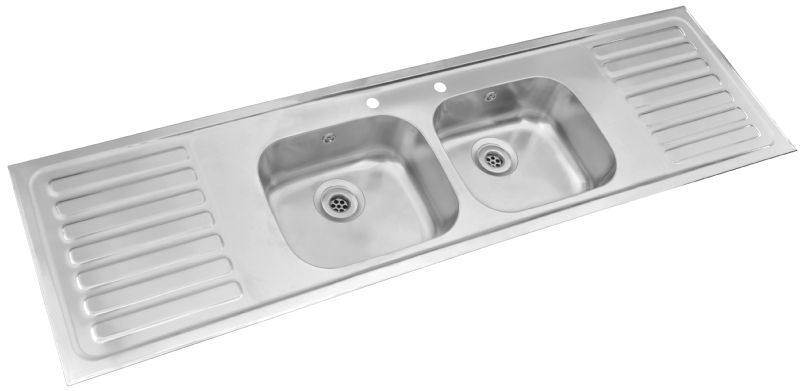 Pyramis Double Bowl Double Drainer Sink Kitchens