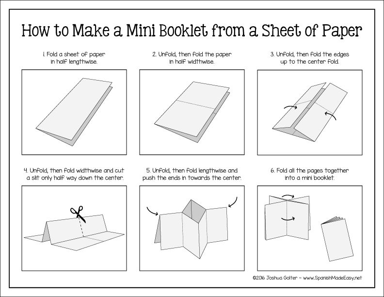 Freebie Easy step-by-step instructions on how to make a mini - blank line paper