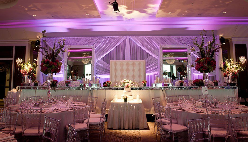 Stylish Wedding Reception Le Crystal In Montreal Stylish
