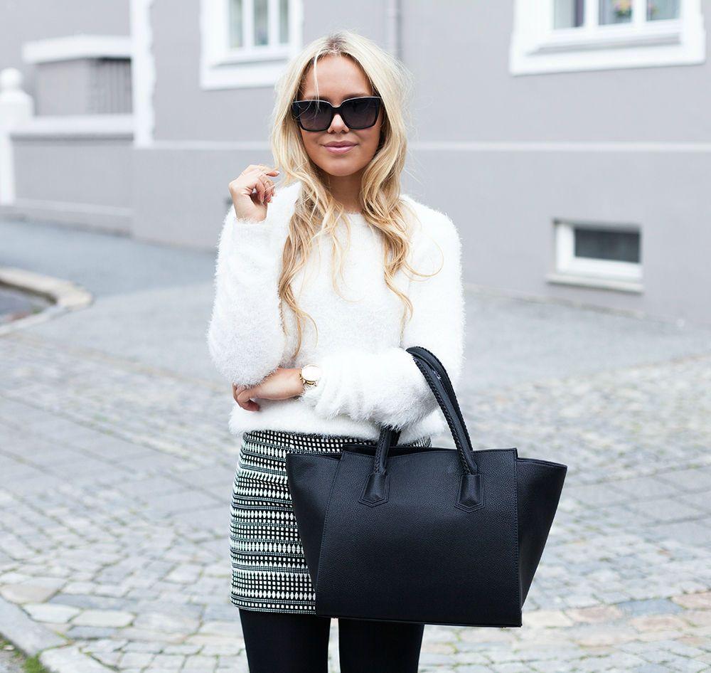 skirt (zara) and such a soft sweater! (bikbok)