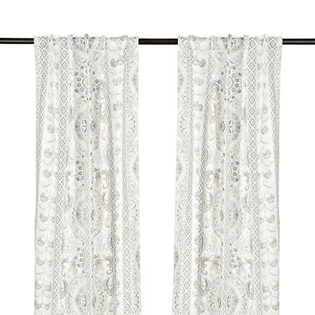 Lola Gray Paisley Curtain Panel Set 108 In