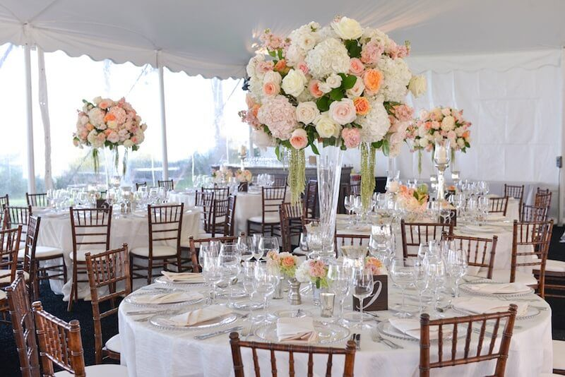Most Stunning Round Table Centerpieces Bako Reception