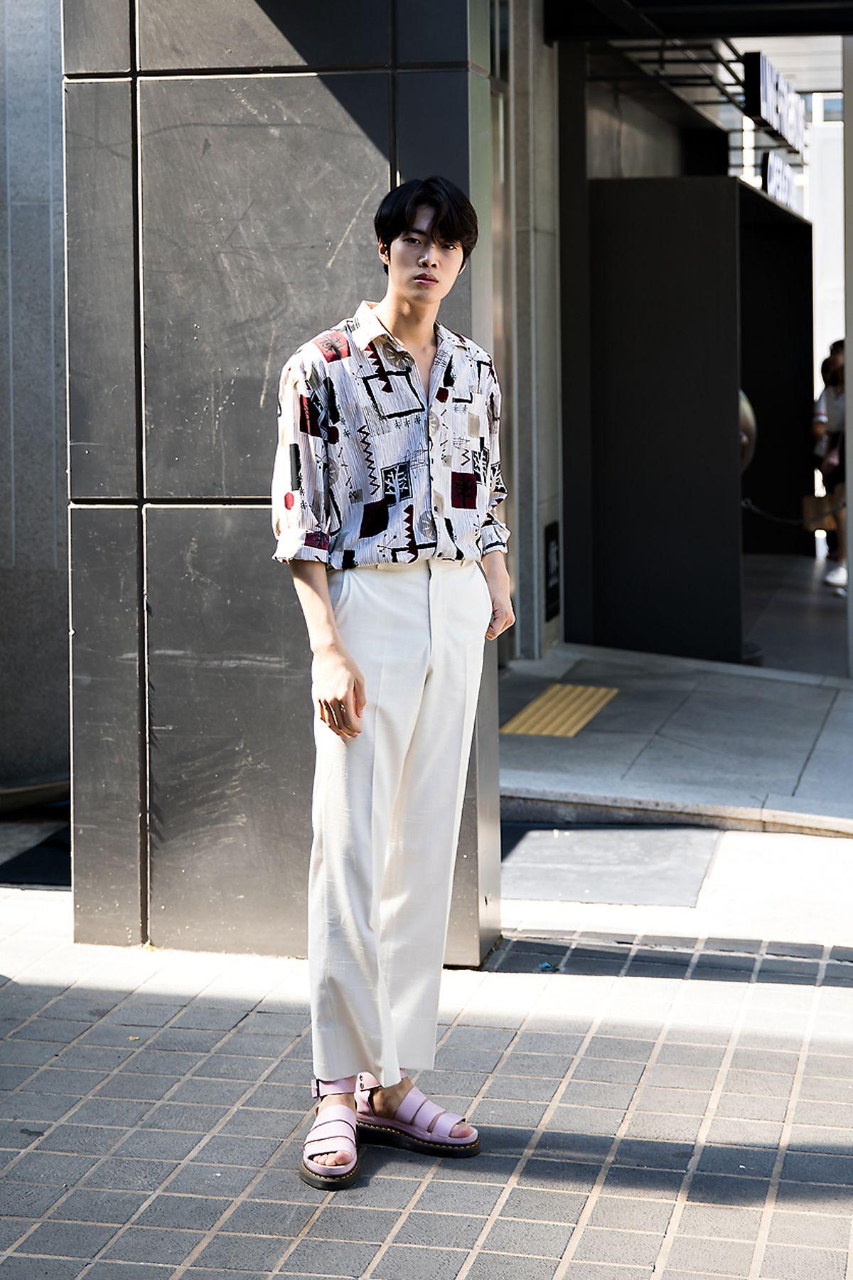 Ko Woongho, Street Fashion 5 in Seoul  Gaya pria, Pakaian, Kemeja