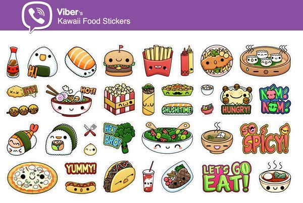 foto de Kawaii Food Sticker Альбомы для рисования