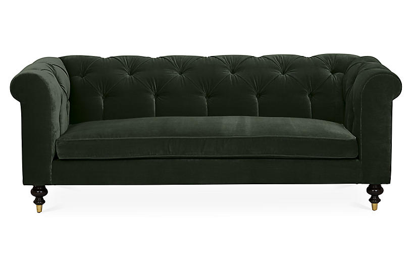 Astonishing Dexter Tufted Sofa Forest Velvet Kim Salmela Products Home Interior And Landscaping Ologienasavecom
