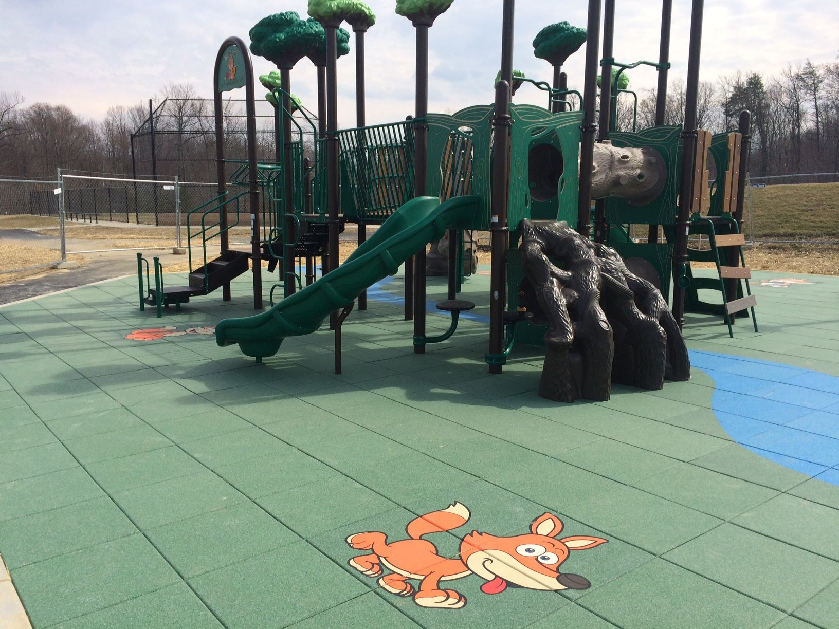 Fox Run Park Prince George S County Md Nature Themed Playground With Custom Fox Tiles Outdoor Chairs Playground Nature Themed