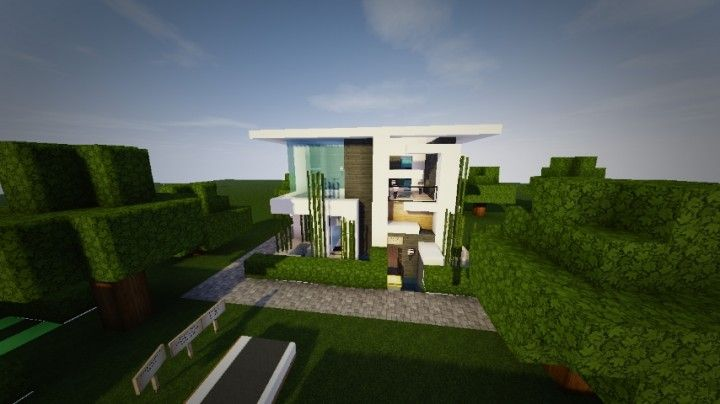 here is a small modern house built by themodern_pvper both exterior and interior are complete - Tiny Modern House Minecraft