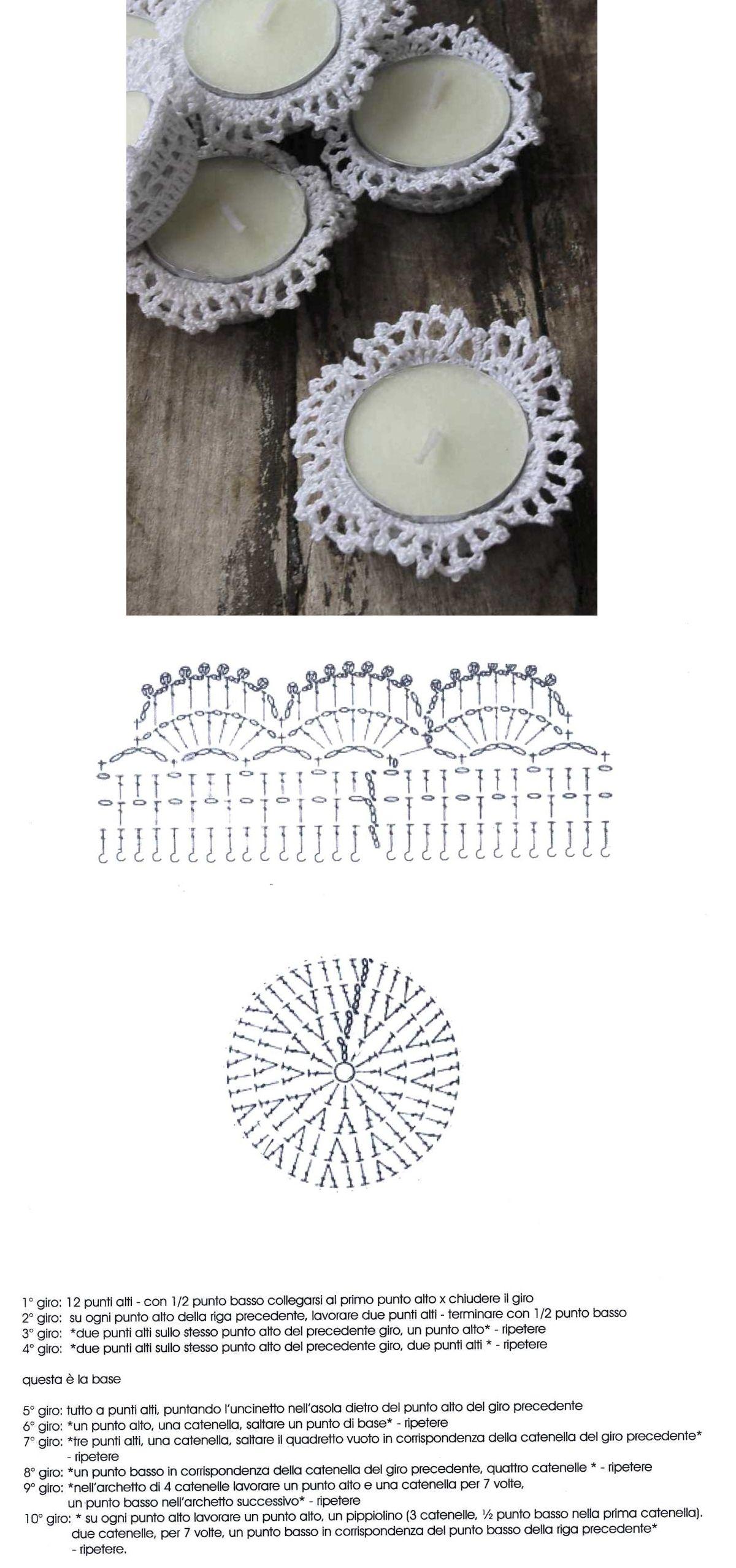 Velas mariposa Ganchillo Crochet Esquema Diagrama Patron http ...