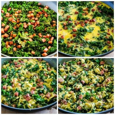 Green Eggs and Ham (Scrambled Eggs with Ham and Kale) Video – Kalyn's Kitchen