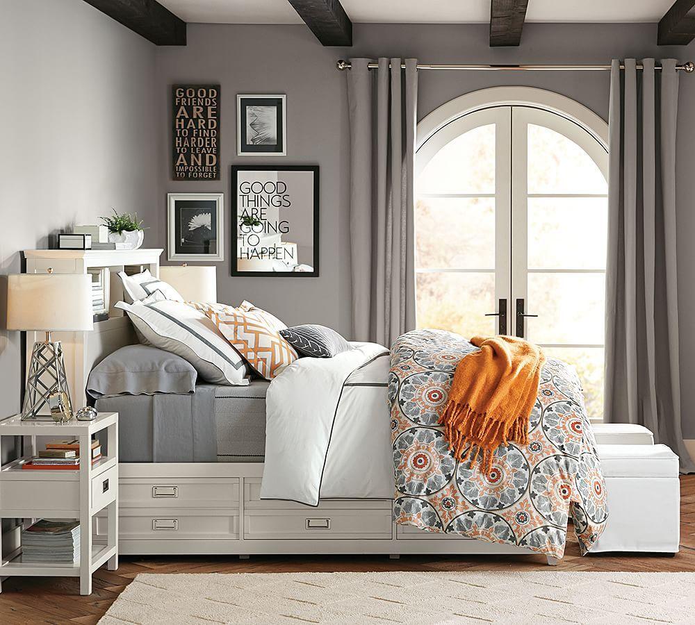 ️ Pottery Barn&39;s Veronica Organic   Small bedroom decor ...