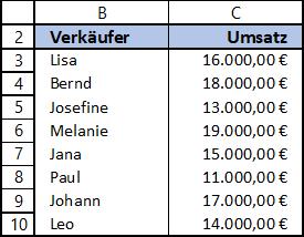 Wahl Funktion Excel