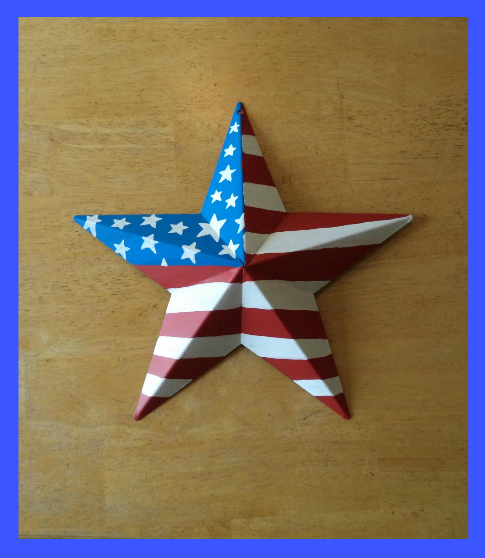 fca0452eef87 Hand painted American Flag Barn Star...metal star and paint.~ Americana