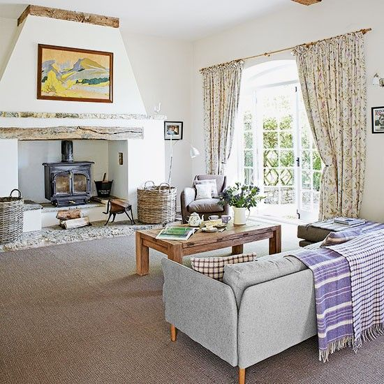 White country living room rooms and neutral walls also rh pinterest