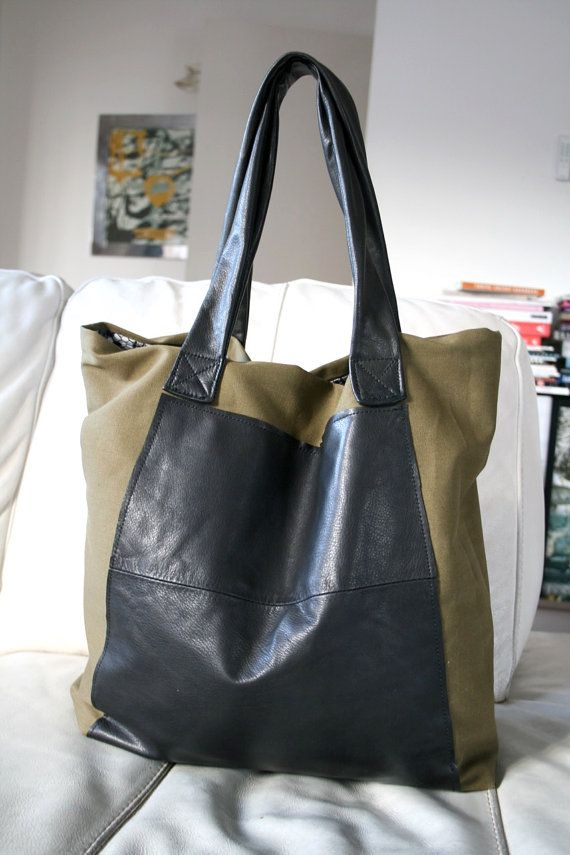 SEWING PATTERN, upcycled leather tote bag, refashion bag pattern ...