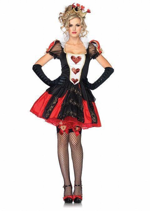Hot Sale Queen Of Hearts Burlesque Fancy Dress Adult Fantasia - hot halloween ideas