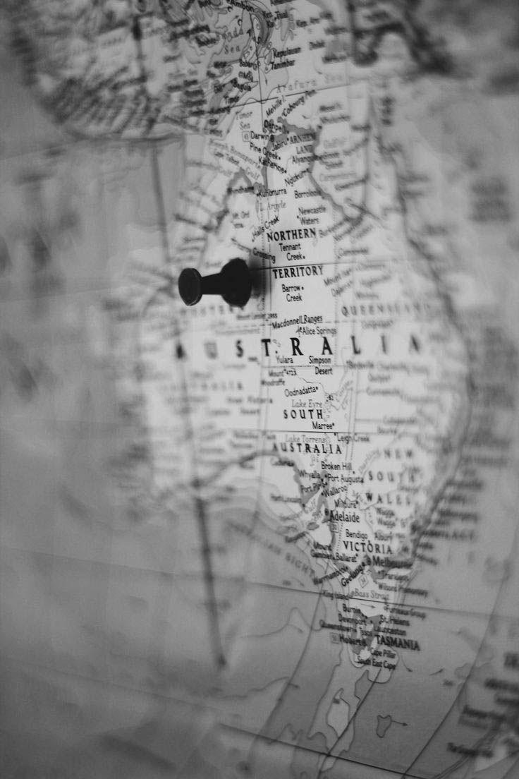 Pin Von M O N J A Auf L O V E Australien Karte Reisen Australien