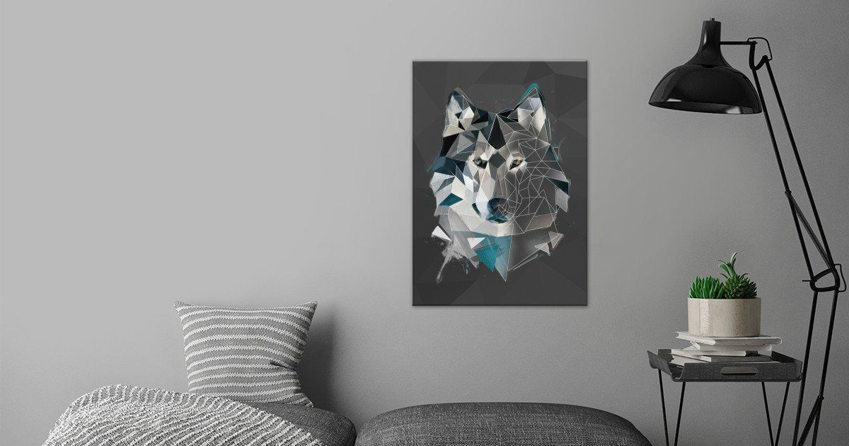 Wolf - sketch Nature Poster Print | metal posters - Displate | Displate thumbnail