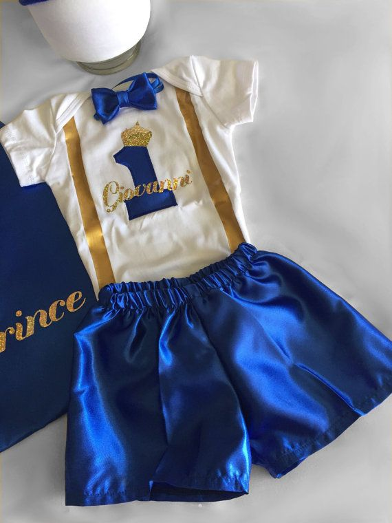 Personalized First Birthday Outfit Boy Prince 1st