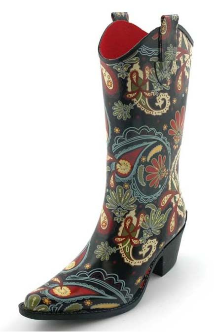 Why of course, rain boots do come in cowboy boot form