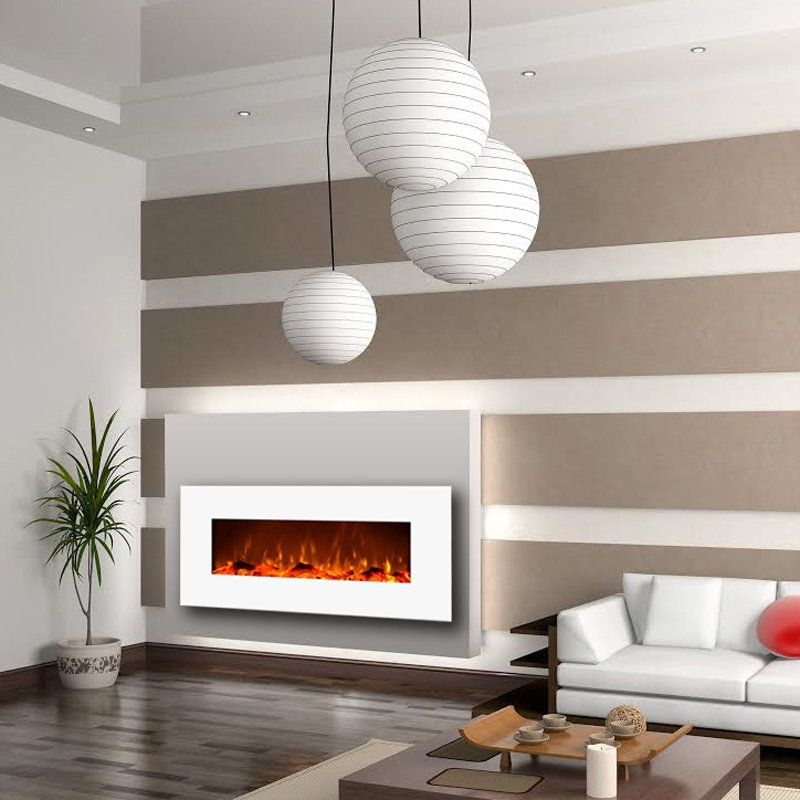 Moda Flame Houston 50 in. Electric Wall Mounted Fireplace | from ...