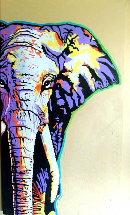elephant art poster pop art nice pinterest tableau abstrait cadres et peinture. Black Bedroom Furniture Sets. Home Design Ideas