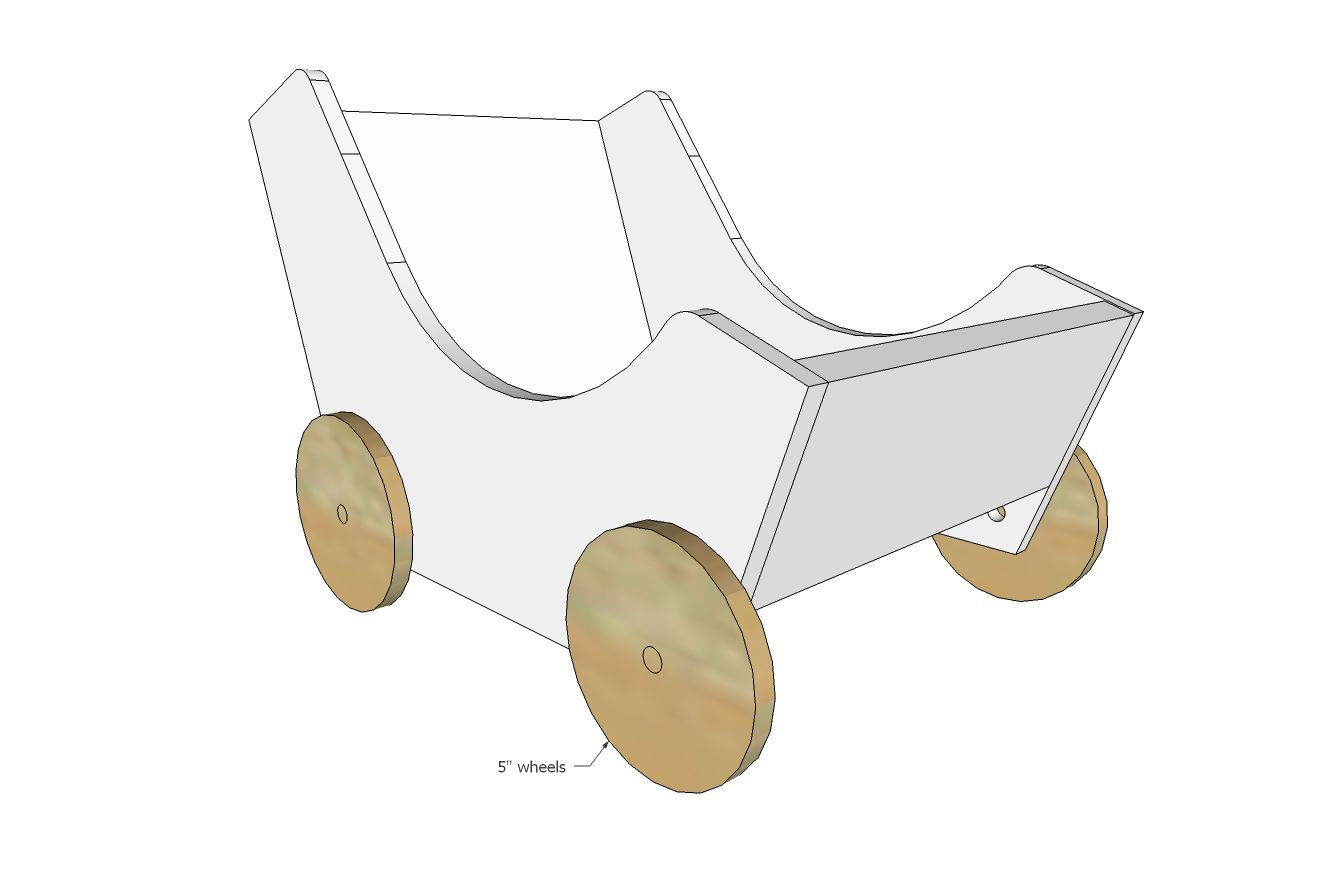 ana white | build a wood doll pram or stroller | free and