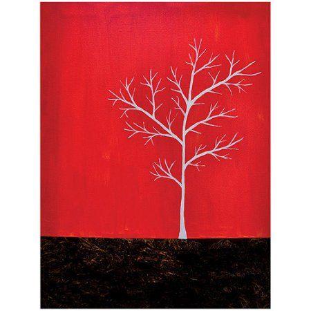 Trademark Art Red On White Series Canvas Art By Nicole Dietz 18x24 Walmart Com Trademark Art Painting Prints Art