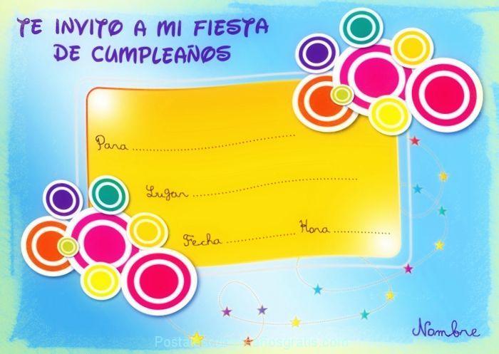 99 Invitaciones de cumpleaños para niños y niñas para imprimir Las Mejores Imagenes online