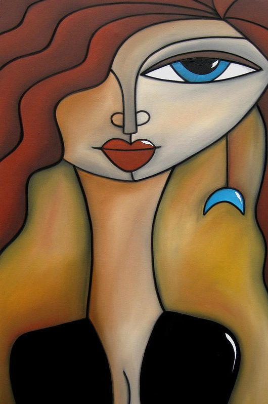 Pop Art Print featuring the painting Magical Original Acrylic On Canvas by Tom Fedro - Fidostudio