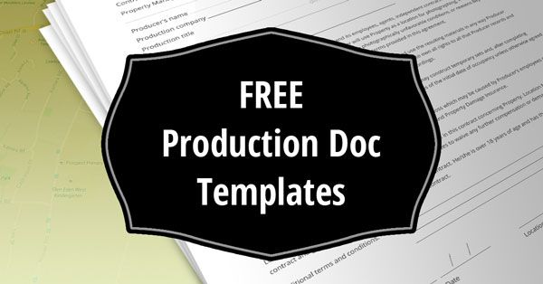 Download production docs and release forms (PDF) - shot list - call sheet template excel